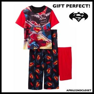 BATMAN SUPERMAN PAJAMAS PJS PANTS TOO SHORTS